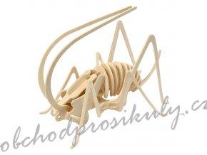 3D dřevěný model luční koník
