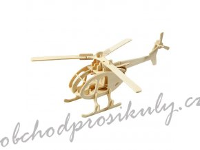 3D dřevěný model vrtulník