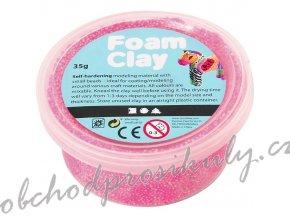 Modelovací kuličková hmota samotvrdnoucí Foam clay - neonová