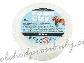 Modelovací kuličková hmota samotvrdnoucí Foam clay - třpytivá, jednotlivé barvy
