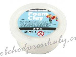 Modelovací kuličková hmota samotvrdnoucí Foam clay - svítící ve tmě