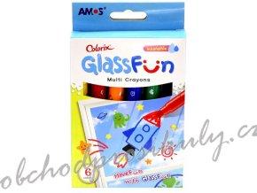 Glass Fun - smývatelné barvy na sklo 6 ks - 1509