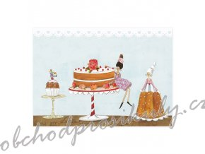 postkarte drei torten