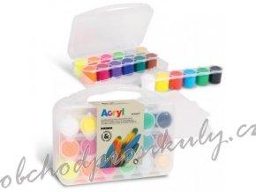 darkova sada akrylove barvy v kufriku