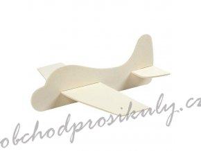 3D letadlo - skládací dekorace z překližky (1ks)