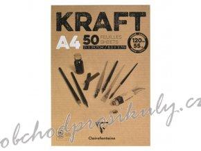 Skicák Kraft (120g/m2, 50 listů) A4