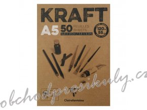 Skicák Kraft (120g/m2, 50 listů) A5