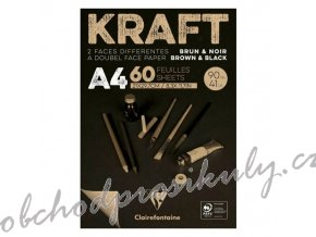 Skicák Kraft hnědo černý (90g/m2, 60 listů) A4