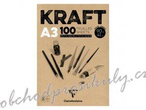 Skicák Kraft (90g/m2, 100 listů) A3