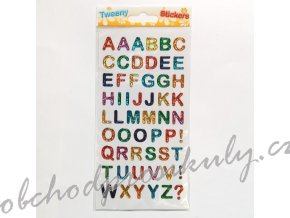 Samolepky plastické barevná písmena