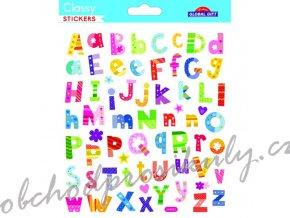 Samolepky písmenka a čísla barevné