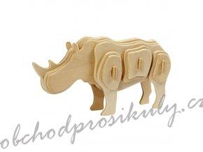 3D dřevěný model nosorožec