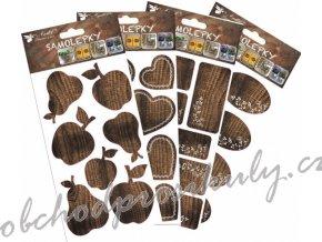 Samolepka na kořenky - imitace dřeva 1161