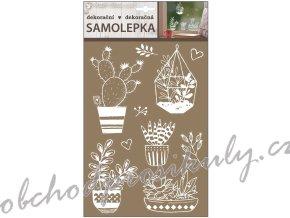 Samolepicí dekorace bílé 30 x 21 cm