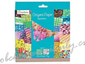 Papíry na origami 20x20cm (60ks) Geometric