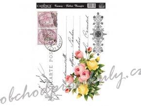 nazehlovaci nalepka 25x35cm pohlednice s kvetinami
