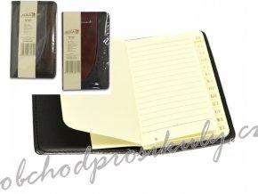 adresář/ záznamní kniha s registrem