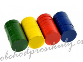 Magnety 20 mm - barevné - 28 ks - 171711