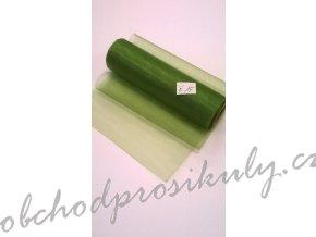 Organza 0,16 x 9m, č. 15tm. zelená