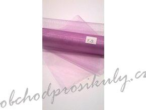 Organza 0,16 x 9m, č. 22 fialovo-růžová