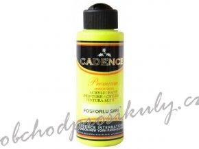 akrylova barva premium fluorescent yellow