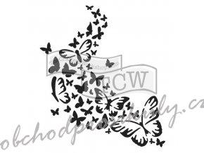 sablona 12 x12 30 5 x 30 5 cm butterfly trail