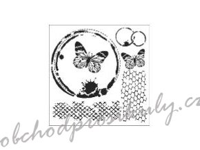 sablona 12 x12 30 5 x 30 5 cm butterfly collage