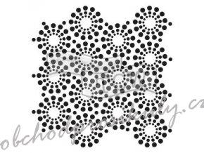 sablona 12 x12 30 5 x 30 5 cm circle of jewels