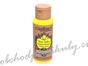 klasicka textilni barva style matt fabric 50ml zariva zluta flourescent yellow