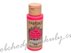 klasicka textilni barva style matt fabric 50ml zariva ruzova flourescent pink