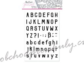 stampo bullet journal abeceda jednoducha