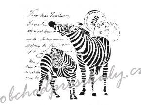 sablona cadence kolekce homedeco 45x45 cm zebry