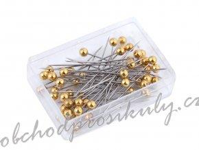 Špendlíky se zlatou hlavičkou, délka 38 mm
