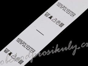 Štítky - složení a prací symboly, 100 štítků