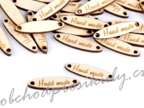 Dřevěná cedulka / ozdoba Handmade 6x27 mm