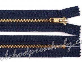 Kovový / mosazný zip šíře 4 mm délka 18 cm