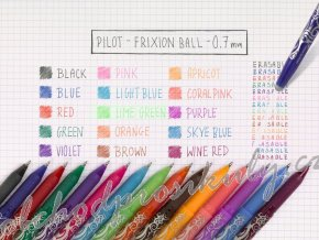 Pilot FriXion Ball, střední hrot, 0,7, pera