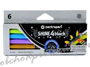 Souprava popisovačů - Shine 4 black - 6 ks - 2590/6
