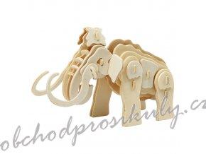 3D dřevěný model mamut