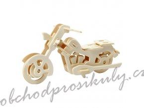 3D dřevěný model motorka