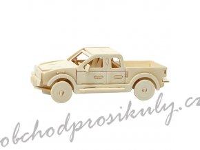 3D dřevěný model auto pickup