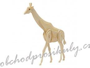 3D dřevěný model žirafa