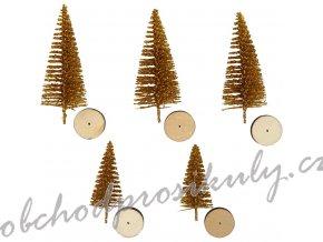 creotime miniatuur kerstbomen 5 stuks 4 6 cm goud 336030 1574084075