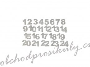 96685 cislice filcove samolepici sede 24ks