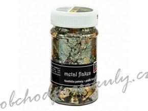 Metalické vločky zlato-kouřové M2 (1g)