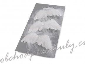 Dekorace andělská křídla s klipem 3 ks
