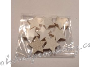 Dřevěné hvězdy, vel. 3cm