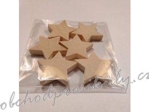 Dřevěné hvězdy, vel. 4cm