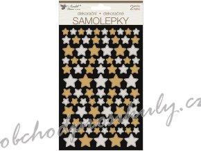 Samolepky hvězdy 14 x 25 cm 2 archy