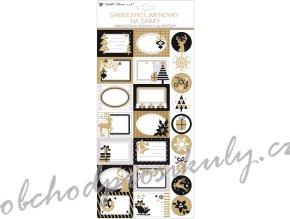 Samolepicí jmenovky na dárky s glitry 18 x 40 cm,23 ks